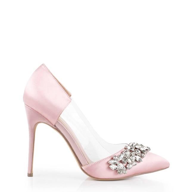 Satin 'Frida' High Heel Court Shoe